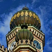 Budapest Synagoge Clock Tower