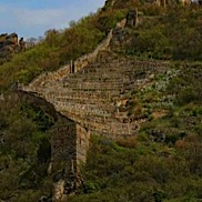 Ruins Above Terraced Hill