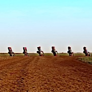 Cadillac Ranch Panorama