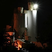 Cement Silo at Night