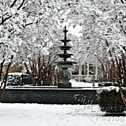 Griffin Parc Fountain in Snow