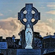 Celtic Cross and Madonna